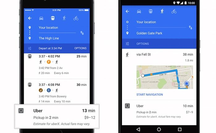 Google Maps on iOS updated with the widget Traffic nearby